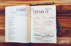 I've been putting this spread off because, well, chores. I also have a confession. I've never read The Life-changing Magic of Tidying Up. I know, I know. How can this be?! I have watched videos on the Marie Kondo method of folding and heard so many summaries that I feel like I've got a pretty good grasp on what is in the book. We are pretty minimalist already, so nothing seemed terribly life-changing. I am queen of getting rid of things that don't serve a purpose or bring me joy. (I'm…