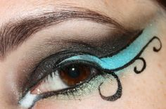 Dance competition eye makeup