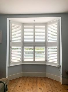 Interior Window Shutters, Wooden Shutters, Interior Windows, Sash Windows, Floor To Ceiling Windows, Cafe Style Shutters, Shaped Windows, Shutter Doors