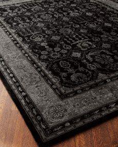 Shades of black rug