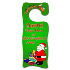 Personalised Wooden Santa and Presents Door Hanger  from Personalised Gifts Shop - ONLY £12.99