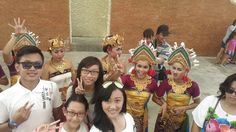 With bali traditional dance in GWK