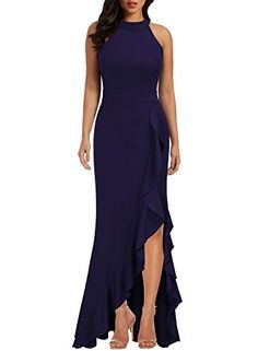 online shopping for WOOSEA Women's High Neck Split Bodycon Mermaid Evening Cocktail Long Dress from top store. See new offer for WOOSEA Women's High Neck Split Bodycon Mermaid Evening Cocktail Long Dress Plus Size Evening Gown, Evening Dresses, Bridesmaid Dresses, Prom Dresses, Formal Dresses, Long Dresses, Summer Dresses, Wedding Dresses, Formal Prom
