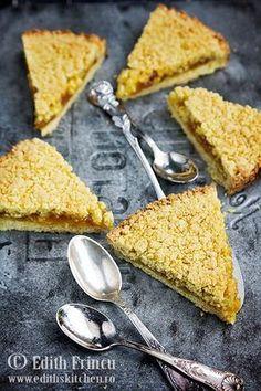 tarta-cu-gem-de-caise-1 Dessert Recipes, Desserts, Cornbread, Sweets, Cooking, Breakfast, Ethnic Recipes, Food, Pastries