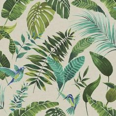 Floresta Green Wallpaper | Dunelm
