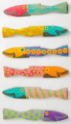 Islander Fence Fish . More Fish <3 love em'   Made out of weathered wood found along the coast in towns & yards :)