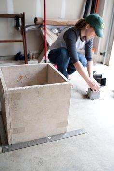 easy diy stone planter // a thousand threads