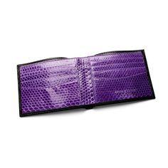 Snake skin purple lining.