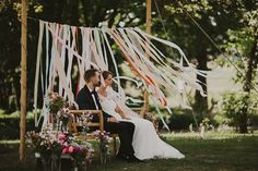 Rustic Wedding Filled With Ribbons With An Outdoor Ceremony And Bride In Lace Dress With Images From Future/Past