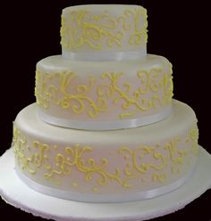 A very simple wedding cake for a very simple sort of gal.