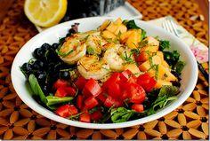 Fruit and grain summer salad