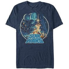 Star Wars Men's Vintage Victory Graphic T-Shirt ($24) ❤ liked on Polyvore featuring men's fashion, men's clothing, men's shirts, men's t-shirts, mens wide striped shirts, mens t shirts, vintage mens t shirts, mens wide neck t shirts and vintage mens shirts