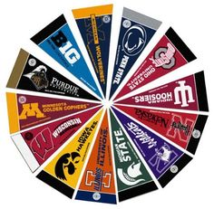 Big 10 Mini Pennant Set by Hall of Fame Memorabilia. $7.95. Officially Licensed Mini Pennant. Mini Pennants Are Great Miniature Versions Of The Standard Pennants. These Icons Of Sport Teams Are Perfect For Decorating Especially In Smaller Spaces. Measures 4'' X 10''. Set Includes 1 Pennant For Each Of The Teams In The Big 10 Conference.Images Shown May Differ From The Actual Product.