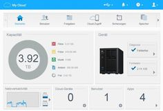 Die WD My Cloud EX2100 lässt sich bequem über einen Webbrowser einrichten. Apps, Smart Home, Desktop Screenshot, Clouds, Activities, Landing Pages, Smart House, App, Cloud