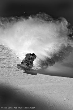 Scott Serfas has an incredible knack for being able to take beautiful photos in the snow. Combine that with a passion for snowboarding and Scott serves out some unbelievable shots of boarders jumping off cliffs