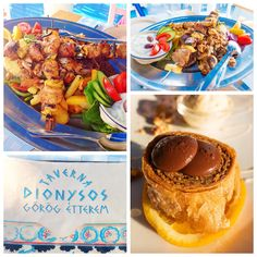 Taverna Dionysos  A delicious authentic Greek experience. This is the cutest Greek cafe with a gorgeous view overlooking the Danube river. The food great and service was wonderful. We split a sampler platter so we could try a bite of everything. They brought us out a Greek feast!! Of course we had to try dessert too. :) This place was right by our hotel, and it was the perfect first meal of the trip.