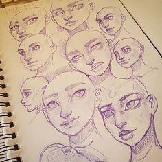 Practice :-) #drawing #sketchbook #art #instaart #artofinstagram #portrait #face #improvement #photoshop #painting #progress