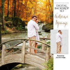 Digital Props 11x14 Backdrop Set - Autumn Springs