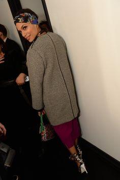 Rosario Dawson in Fendi. [Photo by Steve Eichner]