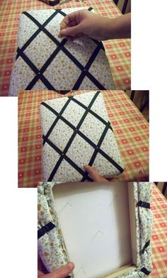 how to make a memo board fabric covered