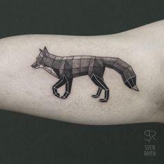 Adorable Geometric Animal Tattoos by Sven Rayen http://designwrld.com/adorable-geometric-animal-tattoos-by-sven-rayen/