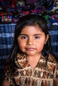 #Guatemala girl dressed in traditional Mayan clothes.   Flickr - Photo Sharing!