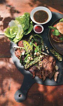 Grilled Lamb Bulgogi with Asian Pear Dipping Sauce - Bon Appétit Lamb Recipes, Sauce Recipes, Asian Recipes, Cooking Recipes, Asian Foods, Drink Recipes, Healthy Recipes, Korean Dishes, Korean Food