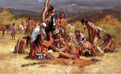 Howard Terpning - Council of Chiefs - Limited Edition Canvas