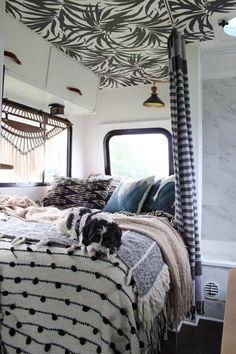 caravan renovation ideas 608971180852196834 - 33 of the Best RV Bedroom Ideas Source by Caravan Makeover, Caravan Renovation, Camper Makeover, Rv Camping Checklist, Camping Car, Camping List, Pimp My Caravan, Modern Mobile Homes, Just Dream
