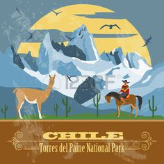 Find Chile Landmarks Retro Styled Image Vector stock images in HD and millions of other royalty-free stock photos, illustrations and vectors in the Shutterstock collection. Thousands of new, high-quality pictures added every day. Chile, Wall Stickers Wood, Torres Del Paine National Park, National Parks Map, Popular Artists, Animal Posters, Vintage Travel Posters, Vintage Wall Art, Map Art