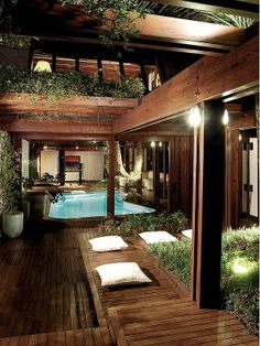Timber/Green/Pool House - Just The Design Future House, Outdoor Rooms, Outdoor Living, Architecture Design, Design Exterior, House Fan, Zen House, Prefab Homes, Design Case