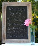 Vintage Wooden Blackboard love this might get one to hire for my clients