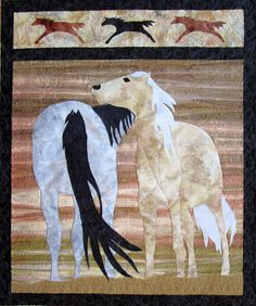 First of all I have to say that I love this quilt and was so excited when my client brought it to me. I can not imagine the time that . Horse Quilt, Bring It To Me, Custom Quilts, Wagon Wheel, Free Motion Quilting, Applique Quilts, Free Sewing, Some Pictures, Moose Art