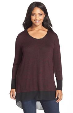 13fac4cd7d0 MELISSA MCCARTHY SEVEN7 Marled Knit High Low Top (Plus Size) available at