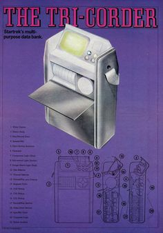 Anatomy of a Star Trek The Original Series Tricorder. Sci-Fi Monthly :: New English Library :: 1976