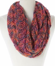 This 29palms Orange Abstract Infinity Scarf by 29palms is perfect! #zulilyfinds