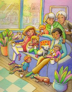 Family Sofa - Linda Prater