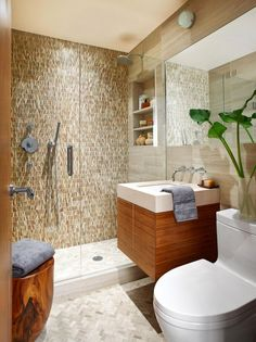 Create a gorgeous walk-in shower with our tips on tile treatments, lighting, layout, storage, and more. Whether you're working with a tight space or have room to fill, these walk-in shower ideas will add a little luxury to your every day. #walkinshower #walkinshowerideas #bathroommakeover #showerideas #bhg Bathroom Renos, Bathroom Flooring, Bathroom Renovations, Master Bathroom, Bathroom Ideas, Bathroom Designs, Compact Bathroom, Relaxing Bathroom, Shower Designs