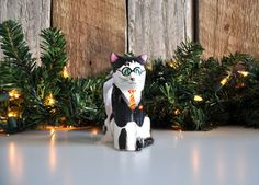 Dearest Muggels, Its the moment youve been waiting for...a Harry Pawtter CAT ornament you can call your own! This is a hand-crafted & painted Harry