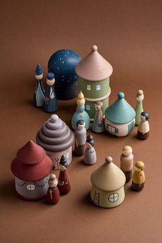 Wooden fairy village Peg dolls & houses by HappyTreeStore. Montessori toys Woodland nursery decor Educational Eco-friendly Toys for baby. Montessori wooden toys. Wood toys for kids activity. Just look at this stunning Fairy Village. Every peg doll and house is hand-carved and carefully hand-painted by ourselves using water based paints. #woodentoy #education