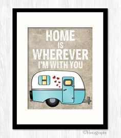 Hey, I found this really awesome Etsy listing at https://www.etsy.com/listing/154049409/typographic-poster-home-is-wherever-im