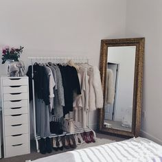 Alex drawers, clothing rack & mirror.