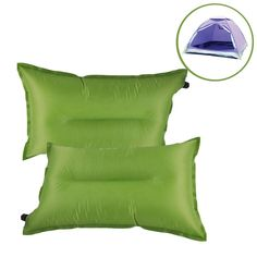 Inflatable Camping Pillow, G2PLAY Set of 2 Packs Self Inflating Air Travel Pillows with Storage Pouch for Camping, Hiking, Traveling, Backpacking, Picnic, Outdoor Sports Events *** You can get additional details at the image link.