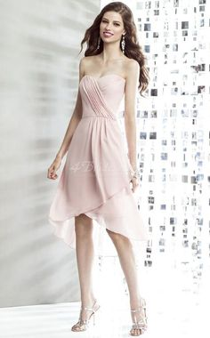 pink asymmetrical bridesmaid dresses - Google Search