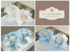 Kit Forminha Flor : Azul/B/Xadrez KRA039   Mais Formosa : Atelier de Forminhas   Elo7
