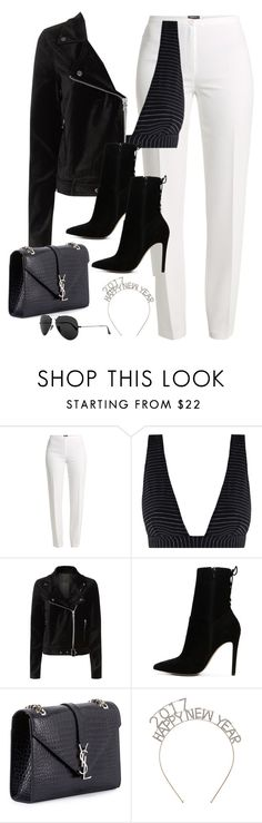 """""""Untitled #2919"""" by theaverageauburn ❤ liked on Polyvore featuring Basler, Zimmermann, Paige Denim, ALDO, Yves Saint Laurent and Ray-Ban"""
