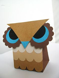 Yellow Mums: Printable: Owl favor boxes