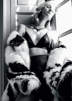 Sasha Luss & Nastya Sten Sizzle In 'Secret Fur' Lensed By Txema Yeste For Vogue Russia October 2015