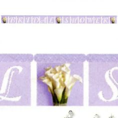 Bridal Shower Bridal Lily Bouquet Banner (1ct) || Hard To Find Party Supplies