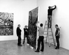 Black Scalpel Cityscapes par Damien Hirst